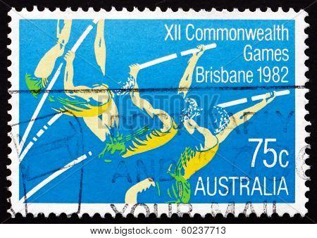 Postage Stamp Australia 1982 Pole Vault