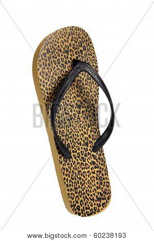 Beach flip flops - Brown leopard