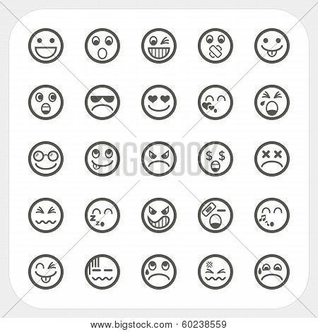 Emotion Face Icons Set