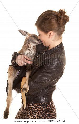 Woman Leather Jacket Kangaroo Kiss