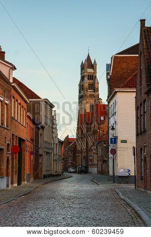 old town and Sint Salvatorskathedraal, Bruges