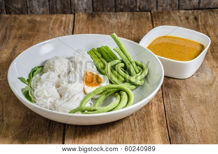 rice noodles.Rice vermicelli