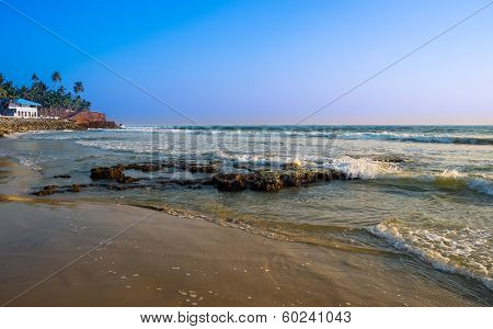 Beautiful Landscape Of The Coast Of India, Kerala