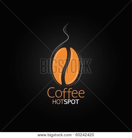 coffee bean design menu background