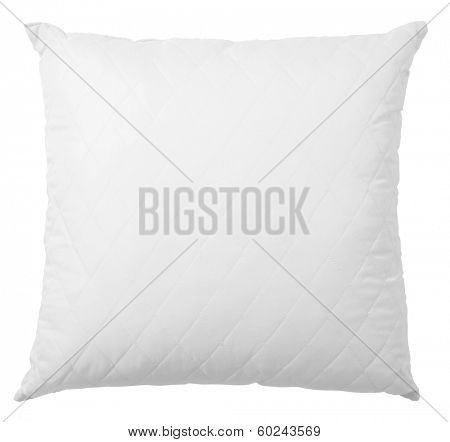 white pillow isolated with clipping path included