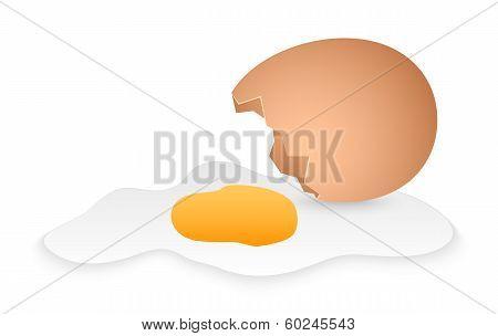 Cartoon Broken Egg