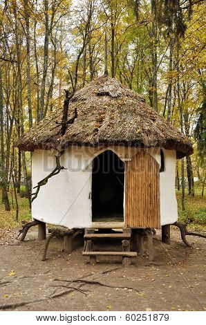 Ancient Wooden Ukrainian House