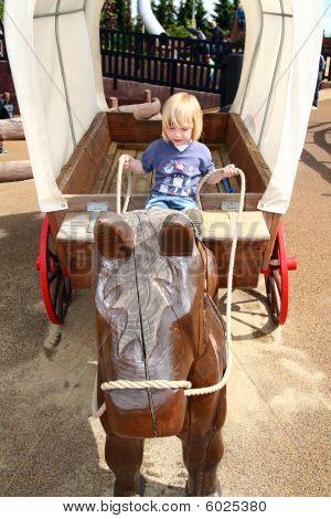 Child Wild West Prairie Wagon Playground
