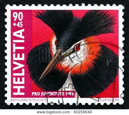 Postage Stamp Switzerland 1998 Great Crested Grebe, Water Bird
