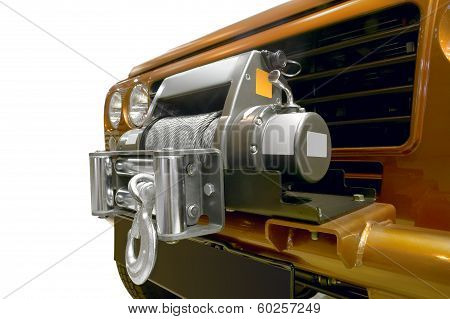 Winch With Metal Cable Wire For Offroad Equipment