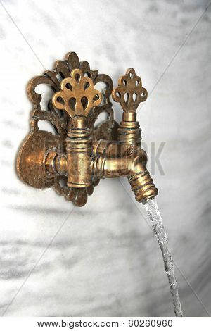Turkish ornate bath faucet