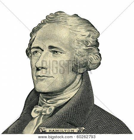 President Alexander Hamilton Portrait (clipping Path)