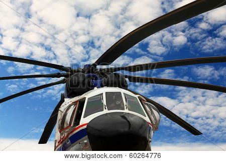 Helicopter, Front View