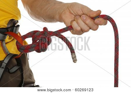 rope knot close up