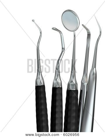 Isolated Dentist Tools