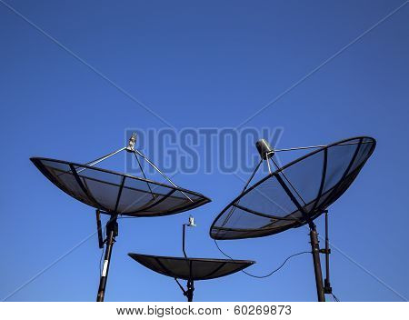Parabolic Satellite Antenna