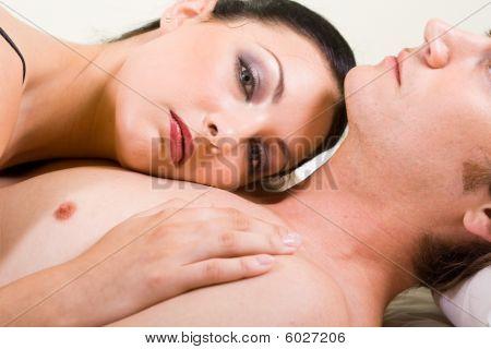 Couple passionate love