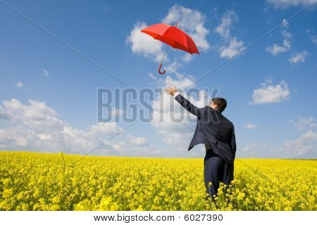 Catching Umbrella