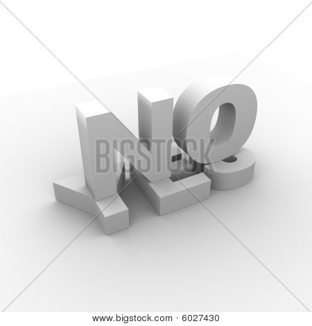 3D NO on YES illustration