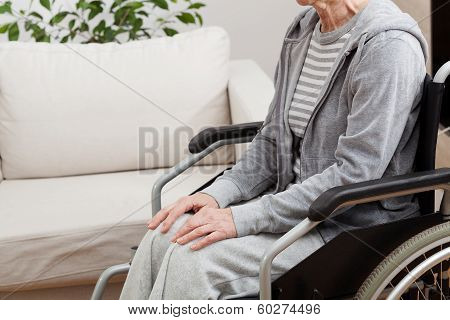 Lady On Wheelchair