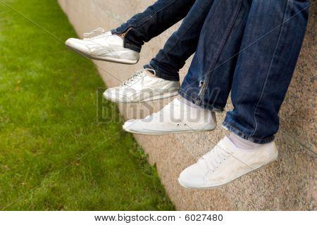 Feet In Sportshoes