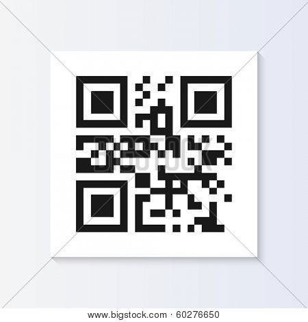 QR code tag illustration isolated