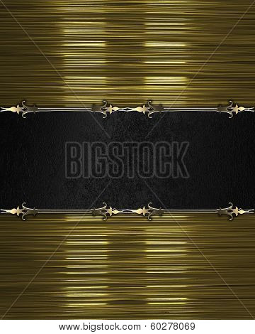 Gold Texture, With Black Nameplate And Gold Trim