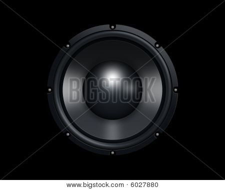 Woofer  Black Background