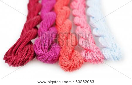sewing threads for embroidery isolated on white