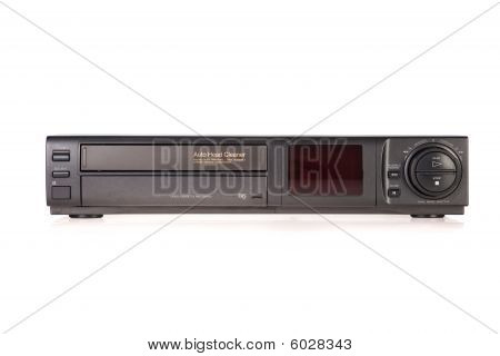 Old VCR Video Cassette Recorder isolated on white background