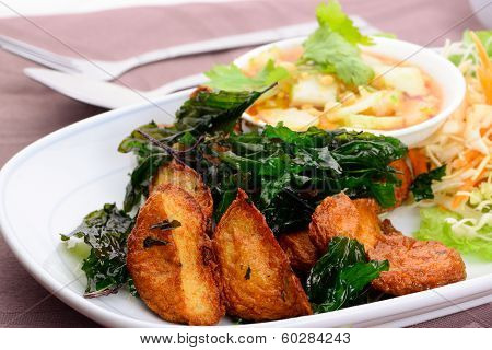 Thai Food Name Fried Fish Cake (tod Mun Pla)