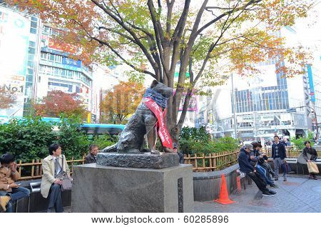 Tokyo - November 24: Hachikoas At Tokyoa Is Shibuya Railroad Station