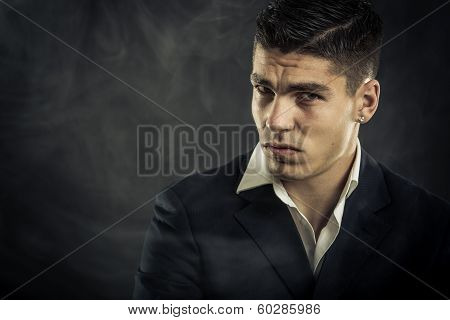 Portrait Of Mafia Man