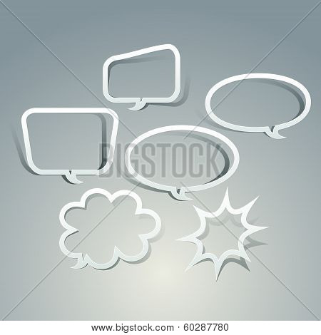 Abstract Speech Bubble Design