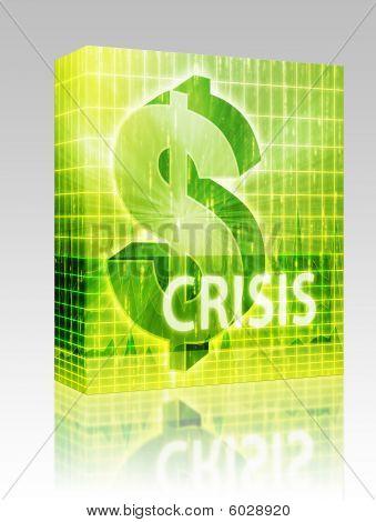Crisis Finance Illustration Box Package