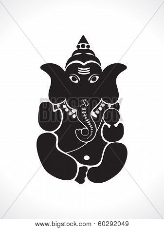 Abstract Ganesh Silhouette