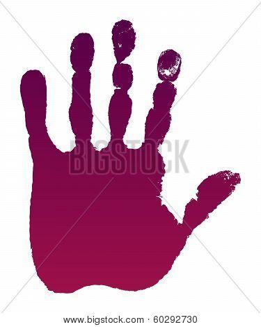 Old Man Purple Hand Print