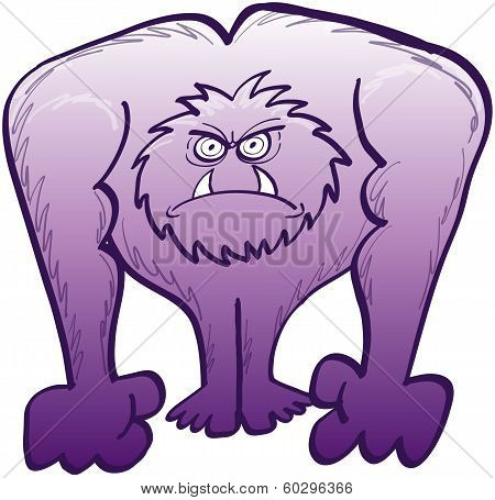 Irritated yeti in a very angry mood