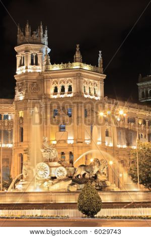 Plaza De Cibeles Madrid At Night