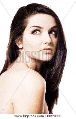Beautiful Brunette. Beauty Shot.