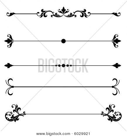 ornamental scroll line rules poster id 6029921