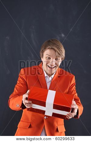 Man grabs a gift