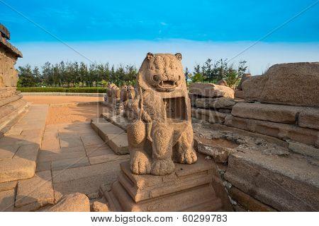 Ancient Sculpture In Mahabalipuram, Tamil Nadu,  India