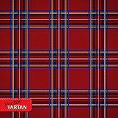 stock photo of kilt  - Vector illustration of Seamless tartan pattern - JPG
