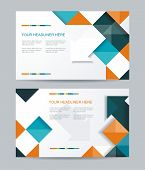 image of booklet design  - Vector template design with cubes and arrows elements - JPG