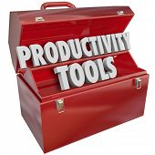 pic of productivity  - Productivity Tools Words Toolbox Learn Efficiency Skills - JPG