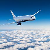 stock photo of jet  - Airplane in the sky  - JPG