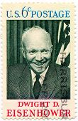 USA -CIRCA 1969: Postage stamp printed in USA showing the 34th President of the United States, Gen.