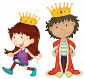 stock photo of pal  - Illustration of queen and king - JPG