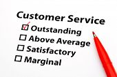 Customer service performance appraisal